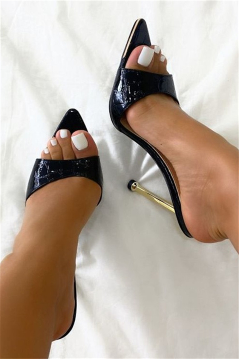 Shoespie Stylish Stiletto Heel Heel Covering Peep Toe